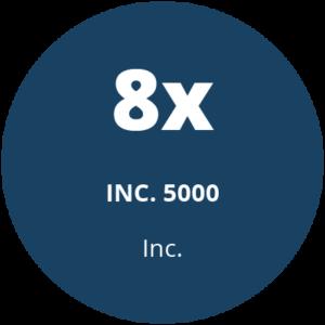8x inc. 5000 award