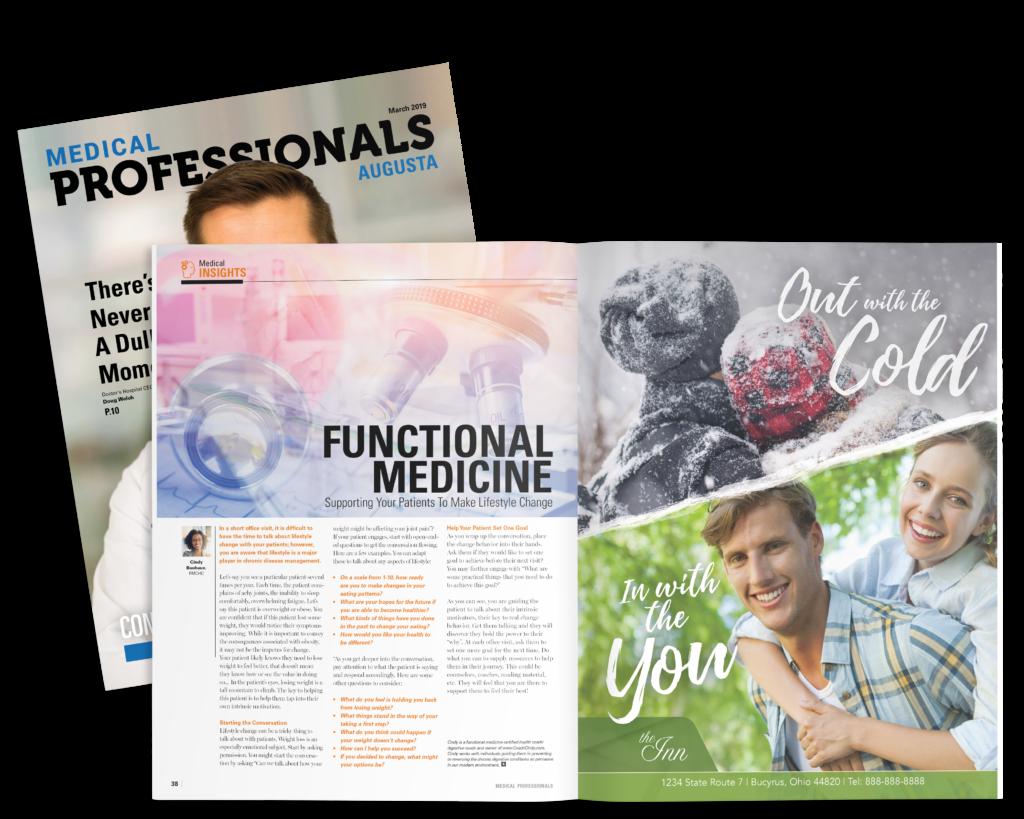 medical professionals hyper-local magazine