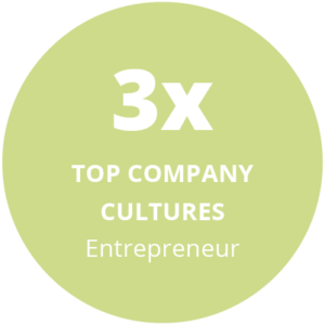 3x top company cultures award entrepreneur