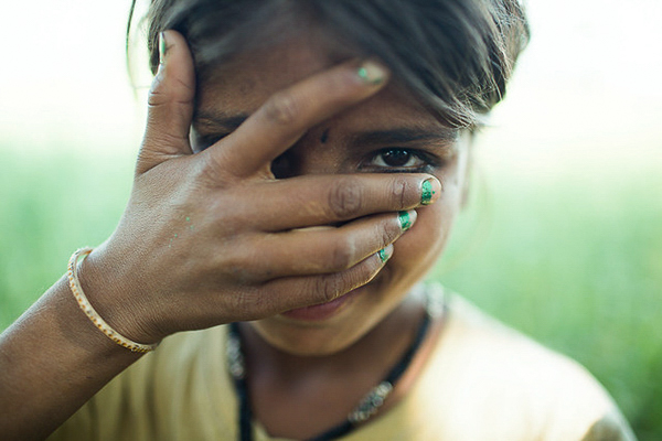 Young girl, victim of human trafficking helped through our partners at Love Justice International.