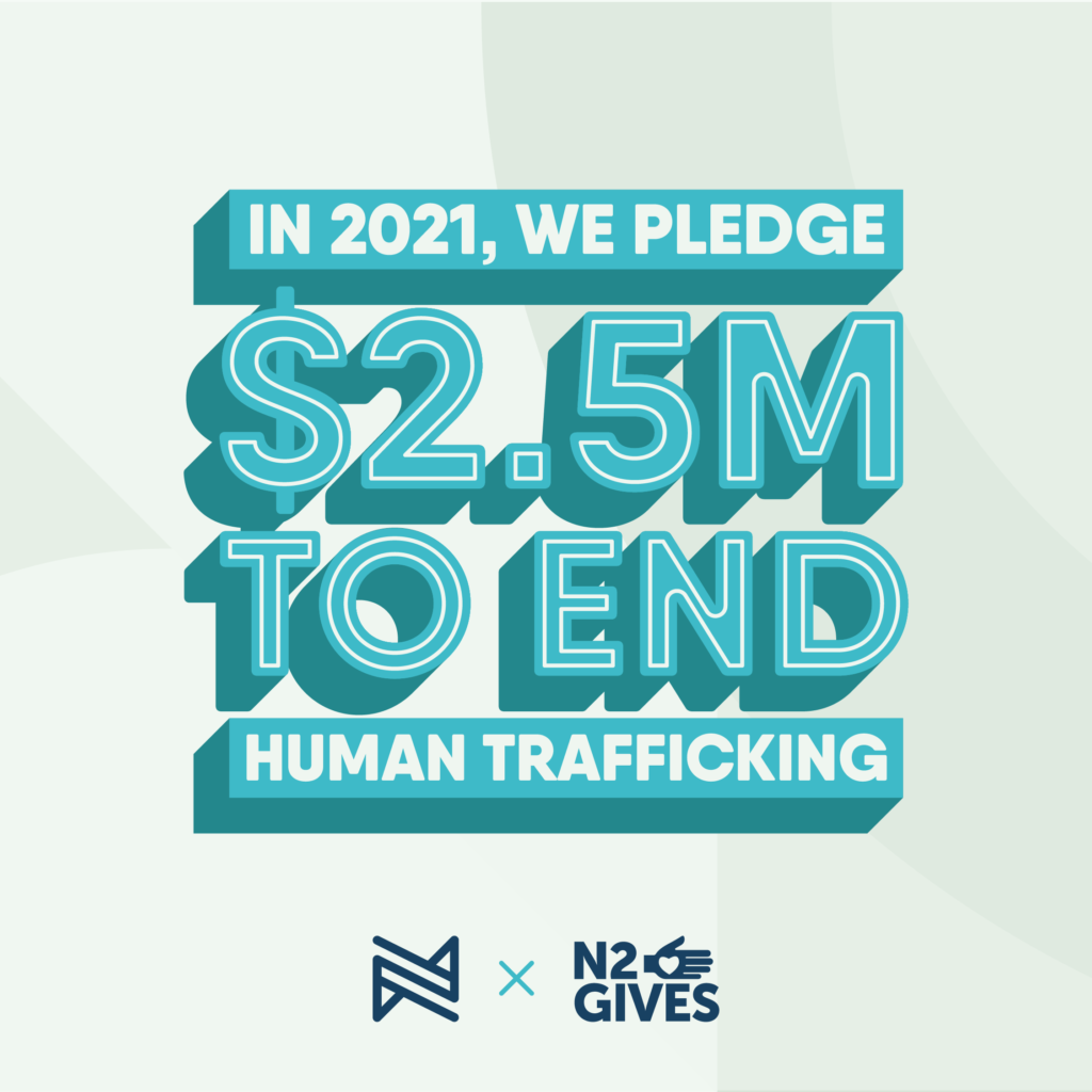 until all are free n2gives end human trafficking donation