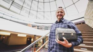 Jason Stern with Lunchpail Award
