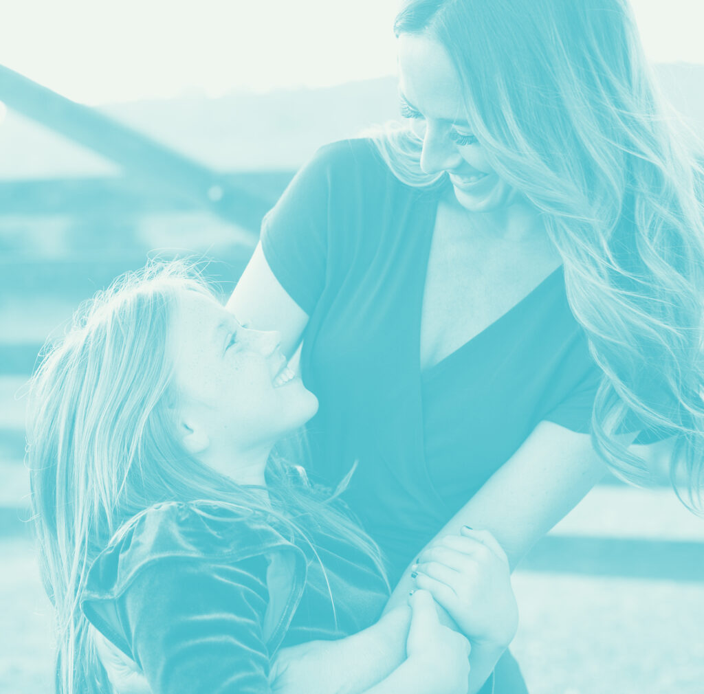 Alicia Scrimger and daughter